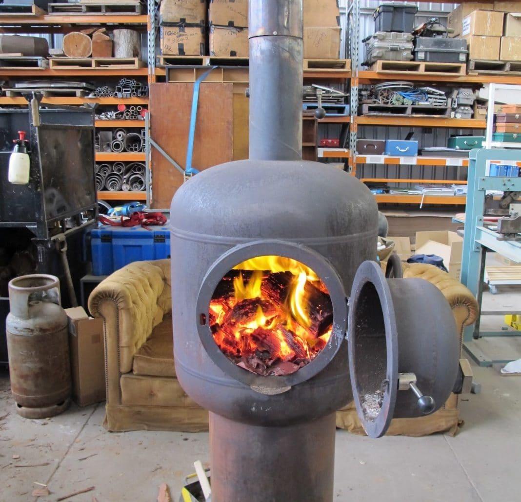 Печка для отопления дома дровами своими руками