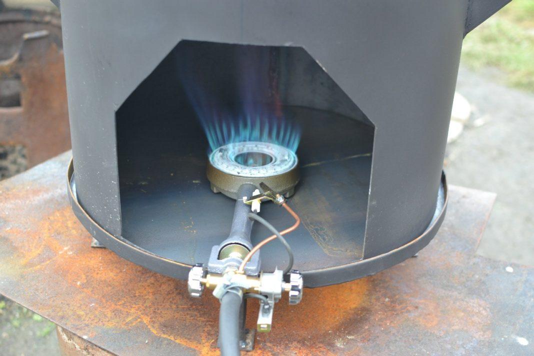 Газовая печь для казана своими руками 31