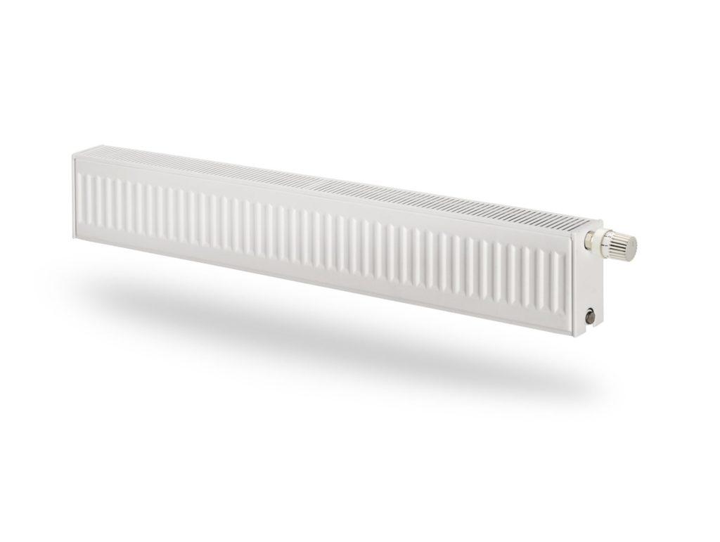 Внешний вид низкого радиатора