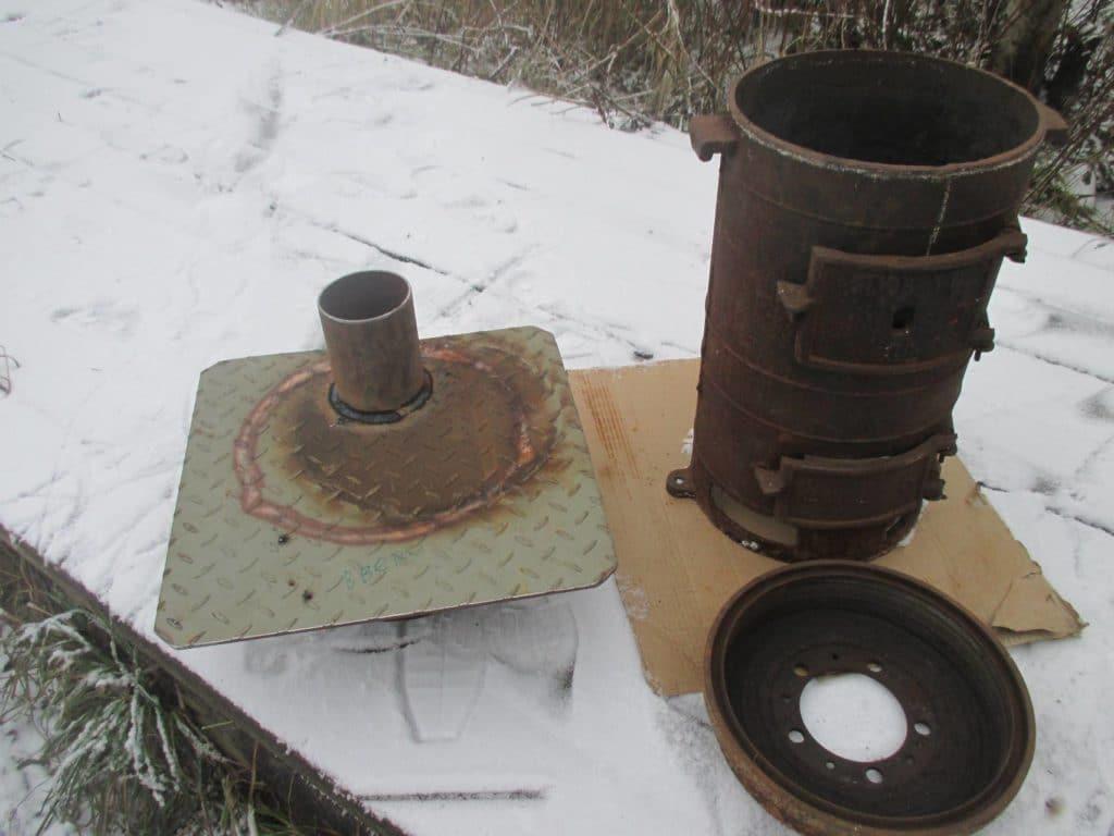 Компактная армейская печь