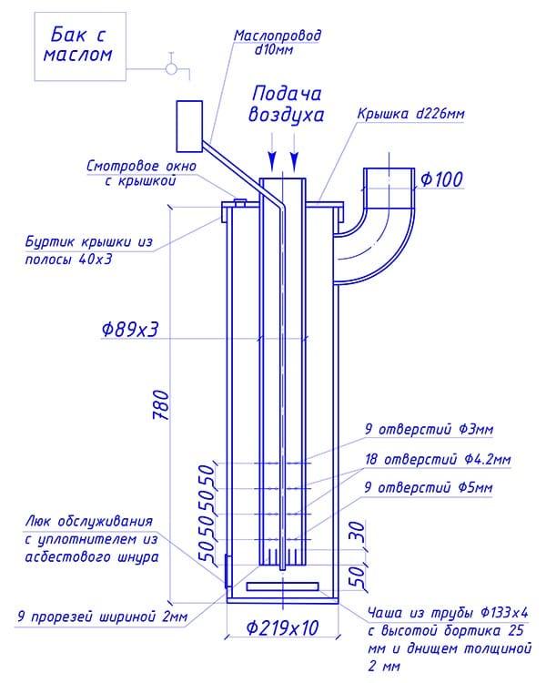капельница из трубы, схема