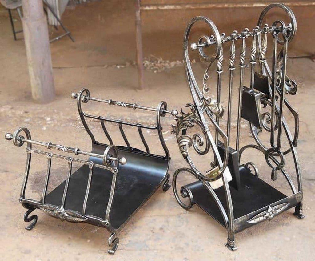 металлические дровницы