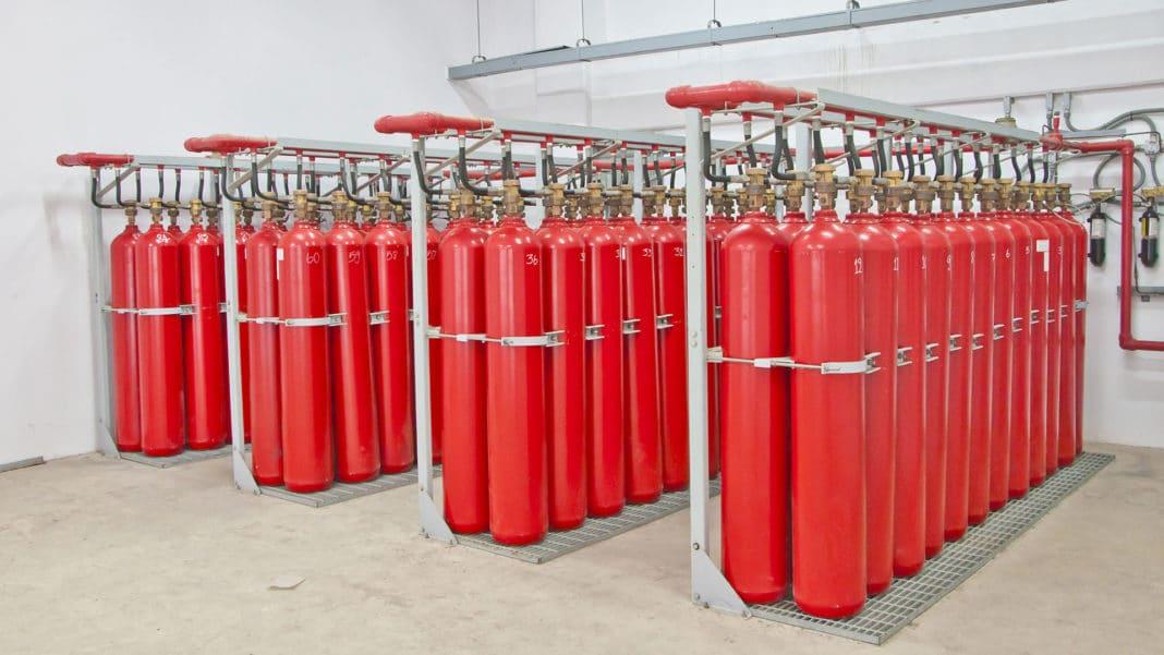 Хранение газовых баллонов