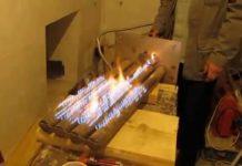 Горелка для банной печи