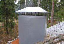 Короб для трубы дымохода