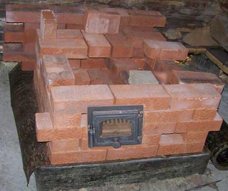 Тестовый ряд керамических кирпичей для печи