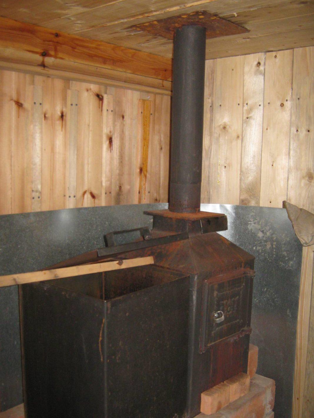 Установка печки в баню