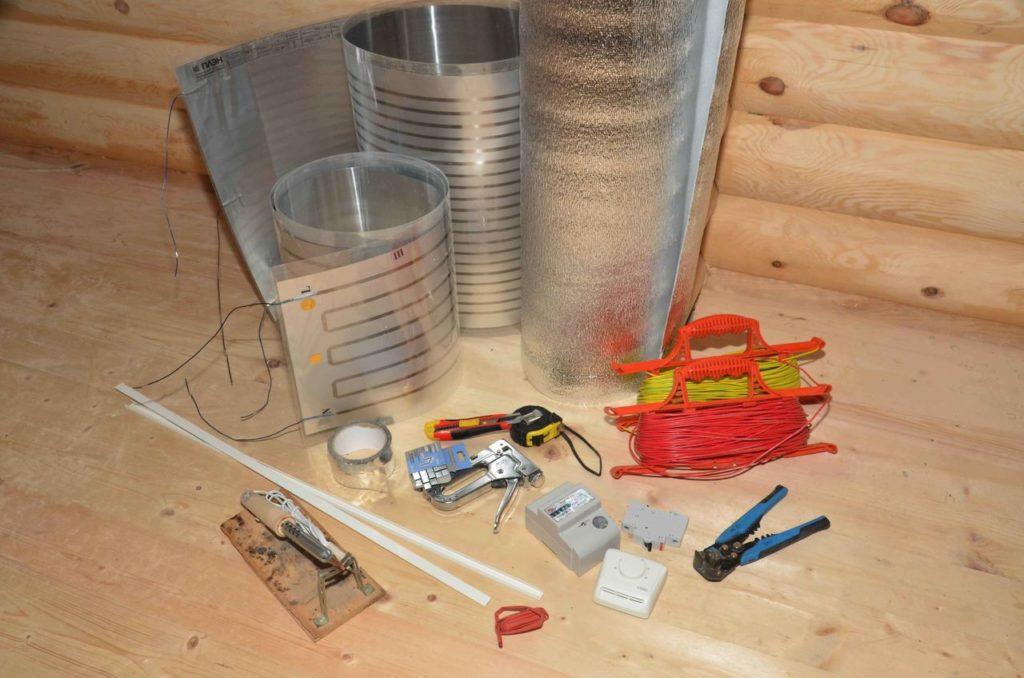 Инструменты для монтажа ИК-отопления