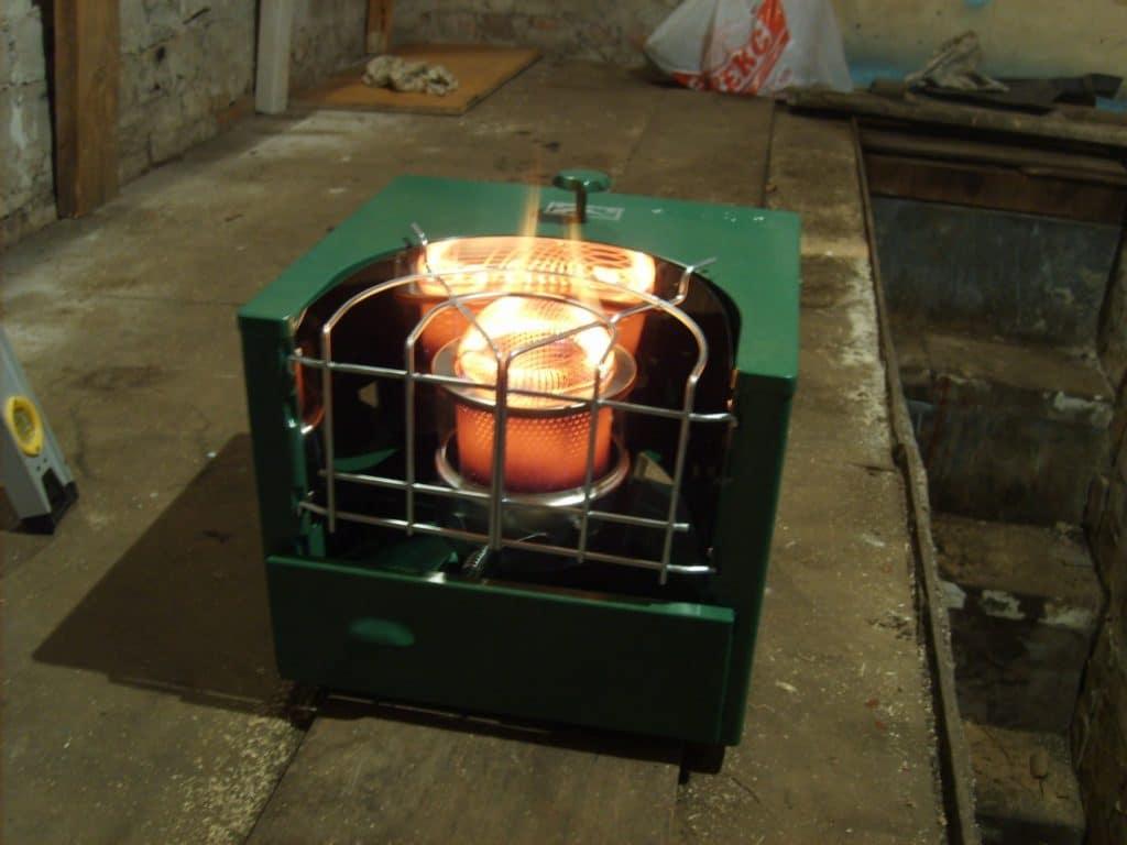Мощная дизельная печка