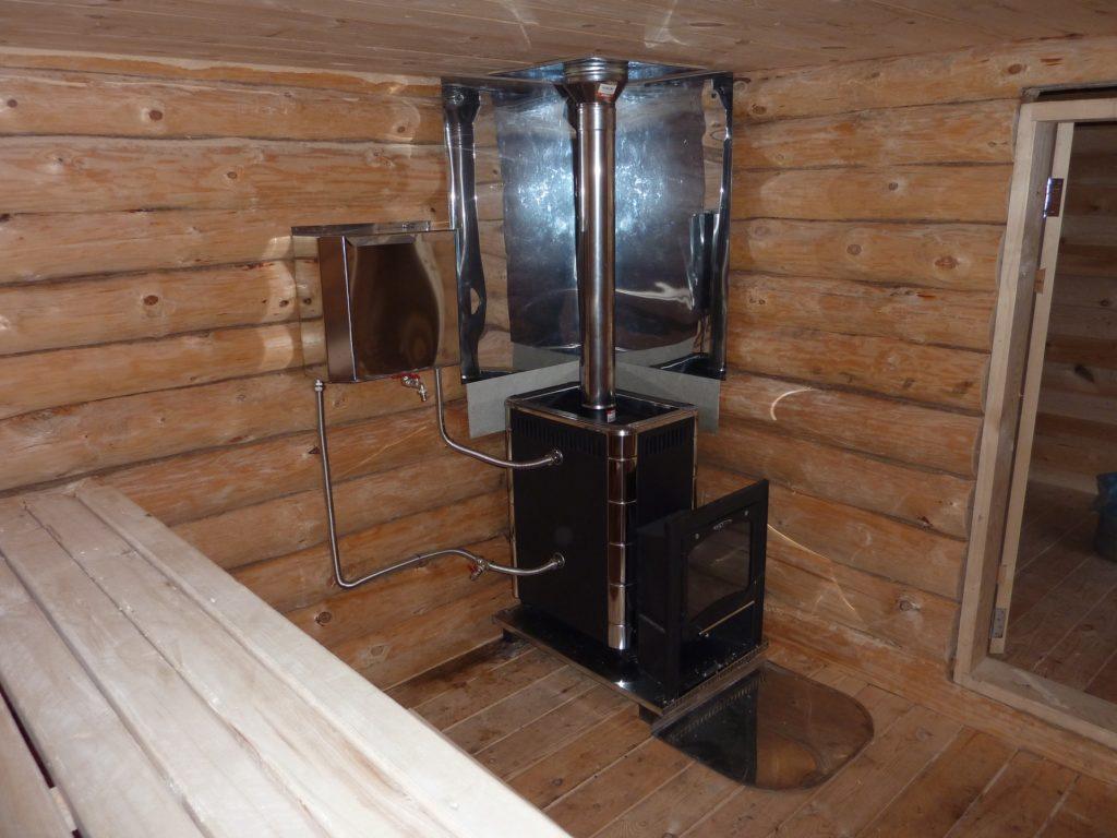Печь с водонагревателем