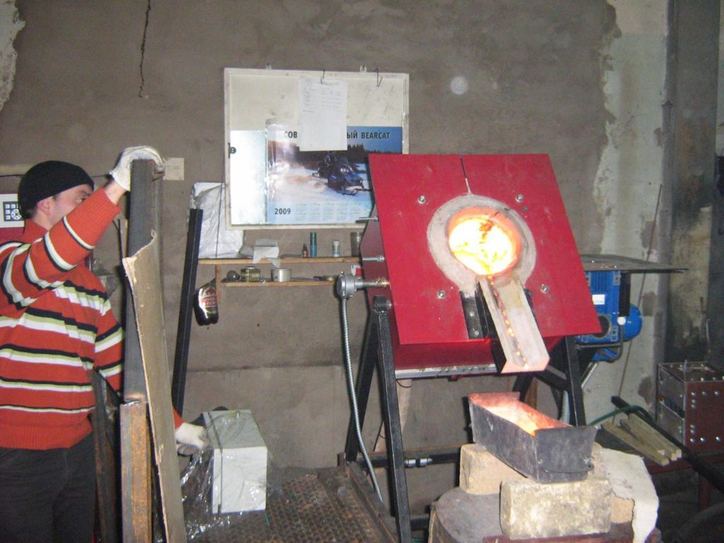 Тигельная индукционная печь