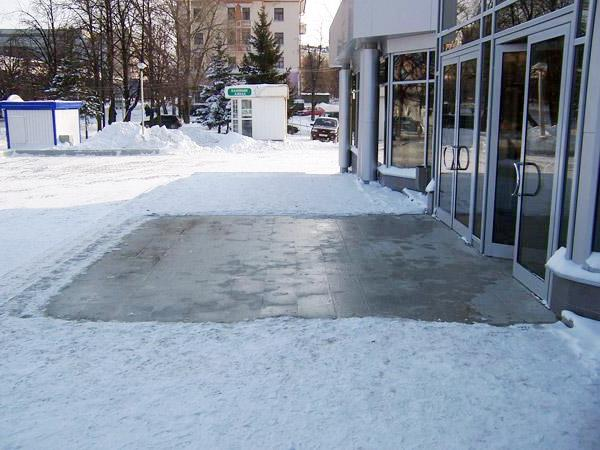 Теплый пол на улице