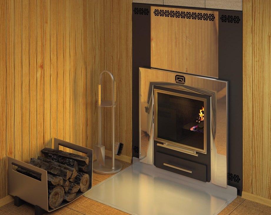 Жаростойкий экран для банной печи