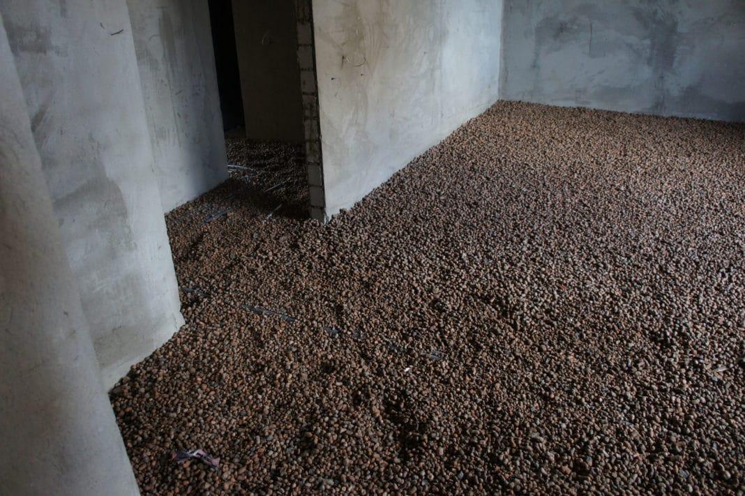 засыпные полы из керамзита