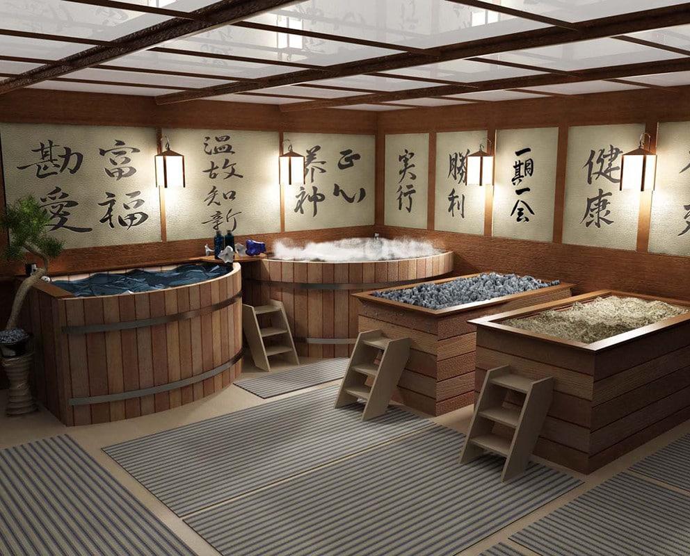 Традиционные японские бани: оригинальный способ попариться