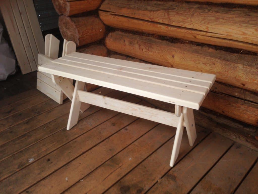 Делаем скамейку в баню: виды древесины и этапы сборки