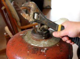 замена вентиля на газовом баллоне