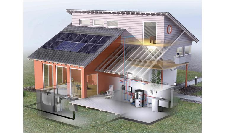 Дом с комбинированным отоплением
