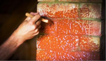Чем покрасить печь из кирпича в доме