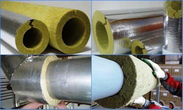 Трубные теплоизоляторы для стояков из минваты и их монтаж
