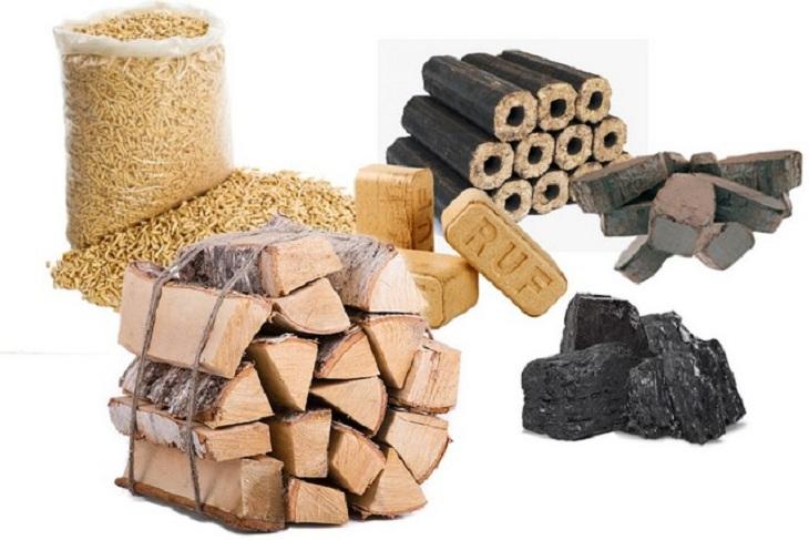 Твердое топливо - дрова, уголь, сланец, торфобрикеты
