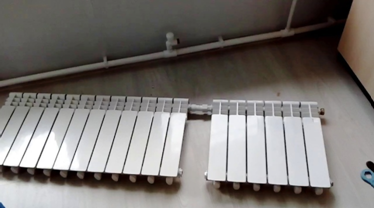 Соединение секций алюминиевых батарей