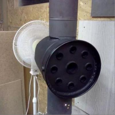 Как увеличить кпд буржуйки с помощью дымохода