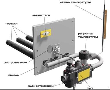 Газовая форсунка для отопления частного дома