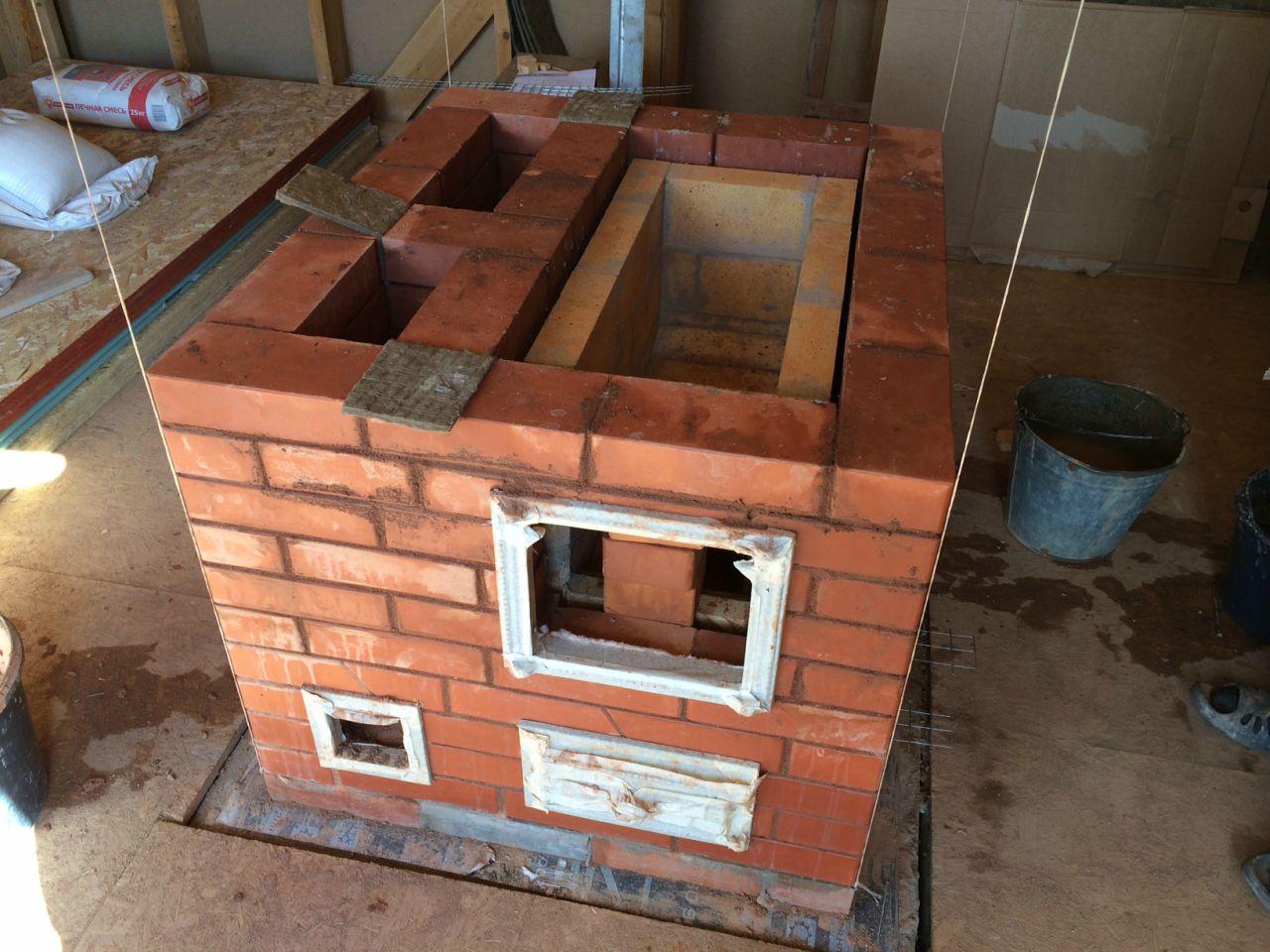 Печь на два этажа с одним топливником
