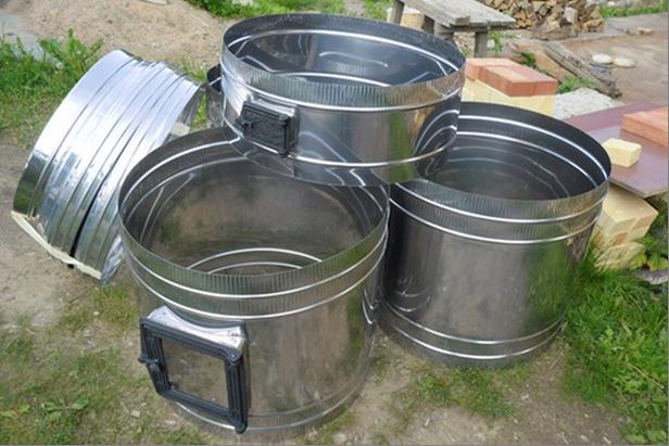 Принцип строительство отопительной печи в металлическом кожухе