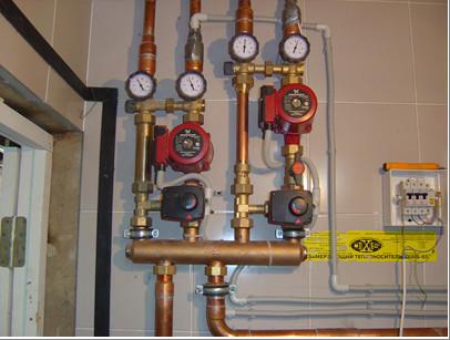Регулировка системы отопления при помощи работы насосов