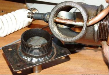 Горелка на отработке для твердотопливного котла на естественной тяге