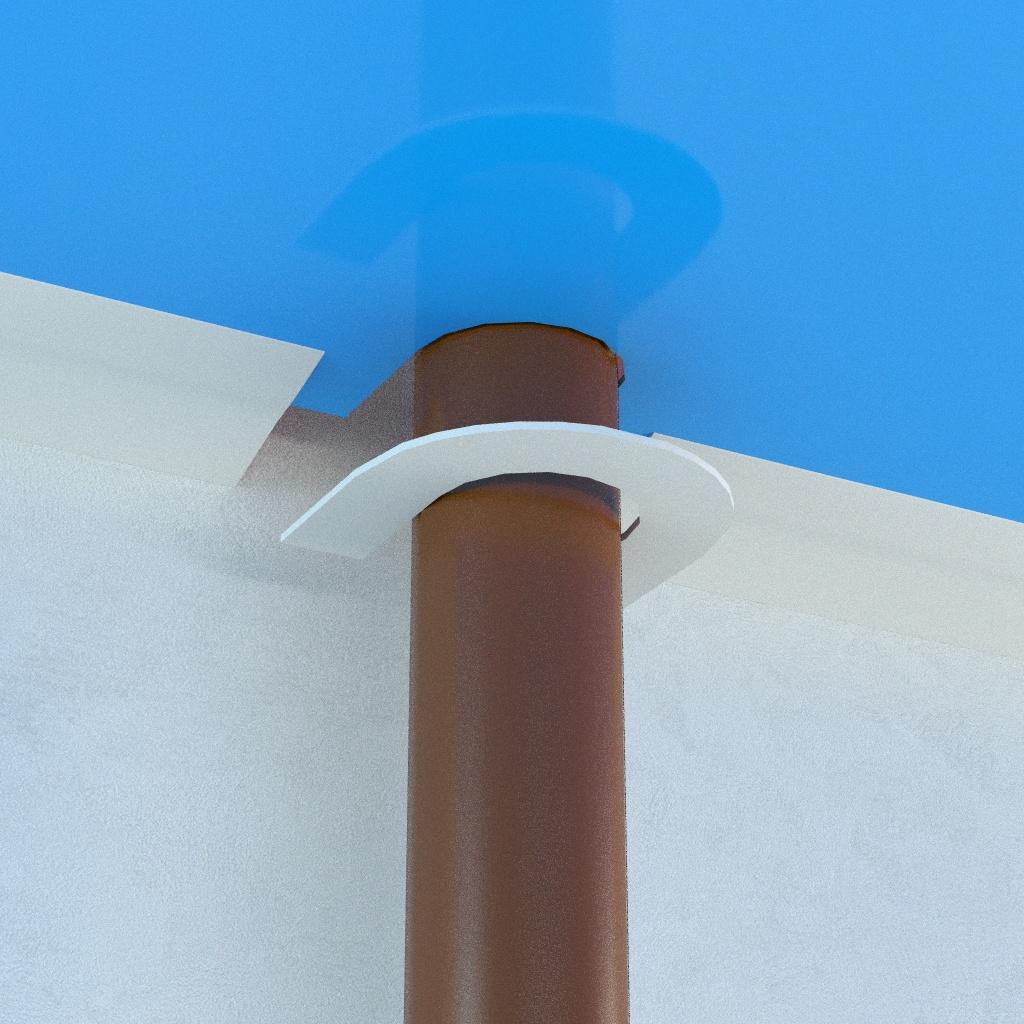 Как уберечь натяжной потолок от перегрева вокруг стояка отопления?