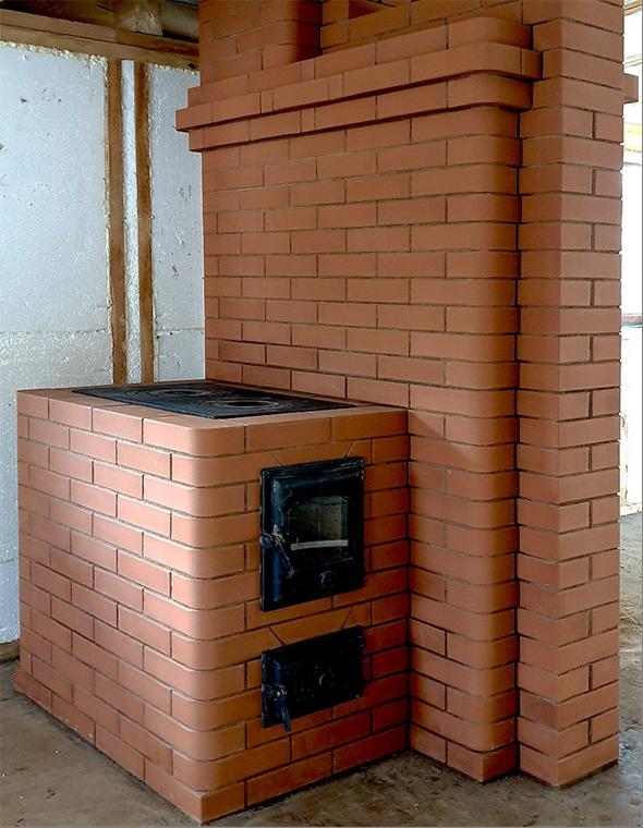 Типичная отопительно-варочная печь