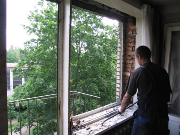 Замена старых деревянных окон металлопластиковыми