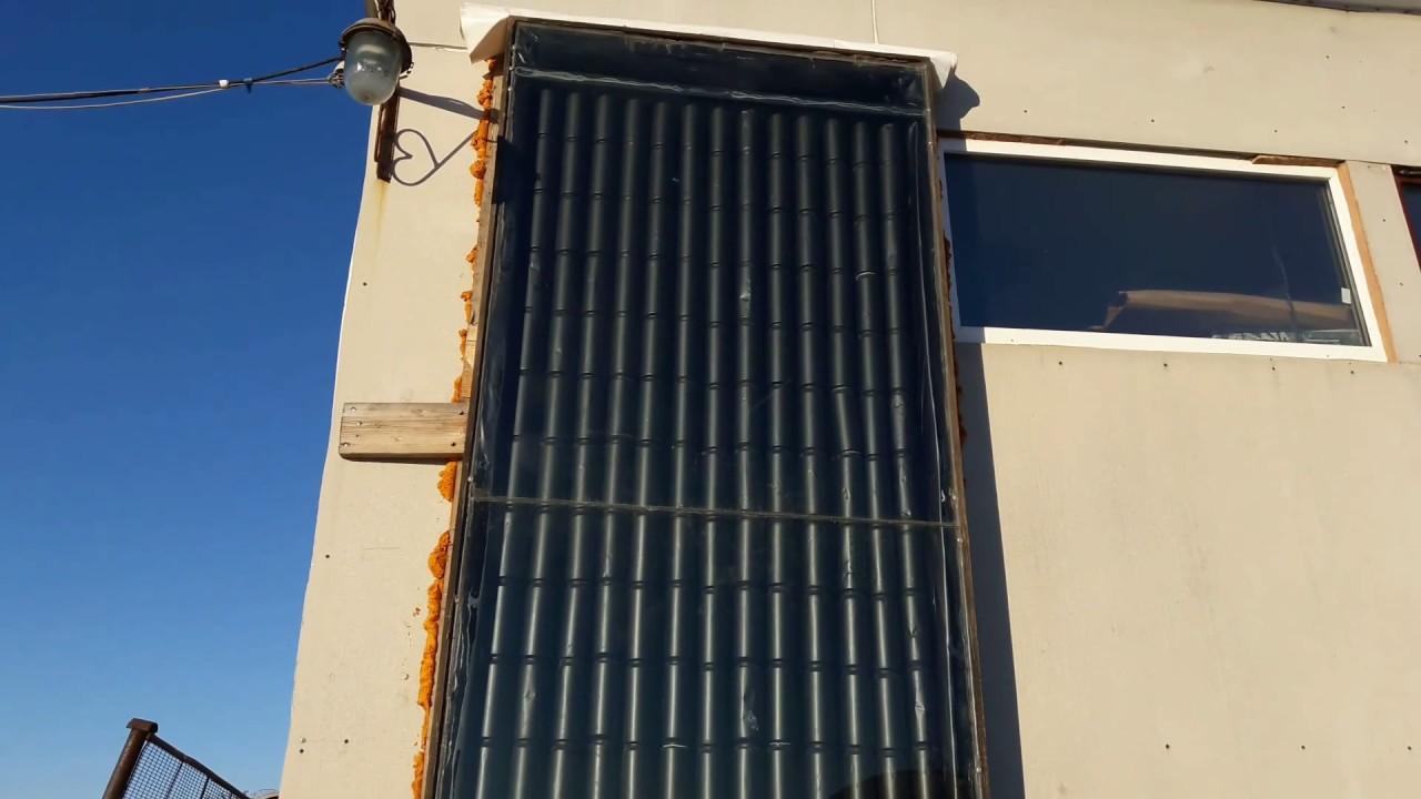 Пивные банки для обогрева воздухом. Солнечный коллектор своими руками.