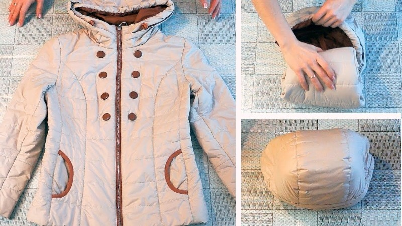 3 способа сложить теплые куртки, чтобы они не занимали много места