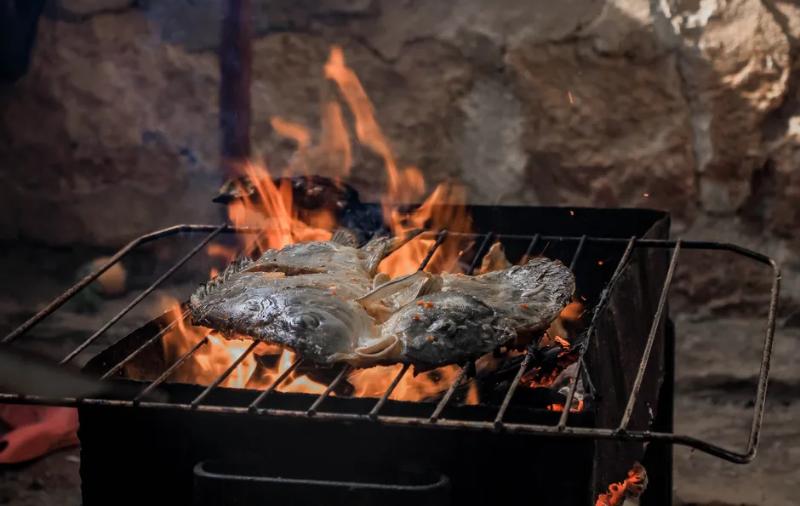 Как готовить рыбу на мангале, чтобы была сочной и не прилипла к решетке