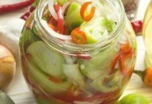 салат из зеленых помидор на зиму