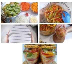 процесс приготовления салата пошагово